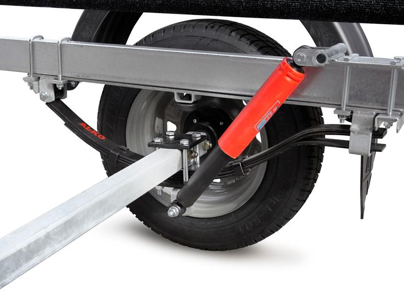 ось и колеса для лодочного прицепа